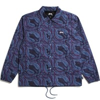 Paisley Coach Jacket Navy