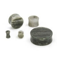 "BAKERITE SNOWSTONE Double Flare Plugs 10g - 1"" - Price Per 1 - 1"" to 3"" Plugs & Tunnels (25-50mm) - Plugs & Tunnels by Size - Plugs and Tunnels - Body Jewelry - Painful Pleasures"