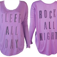 Sleep All Day, Rock All Night shirt by Junk FoodOnline