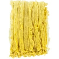 Monte Ruffle Yellow Knit Blanket