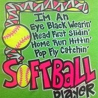 Hot Gift Southern Chics Funny Black Eye Softball Sweet Girlie Bright  Shirt