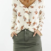 Floral Feels Ivory Top