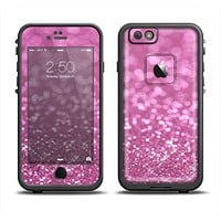 The Pink Unfocused Glimmer Apple iPhone 6 LifeProof Fre Case Skin Set