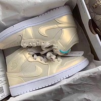 NIKE AIR jordan 1 AJ1 new couple beige high-top casual sneakers Shoes