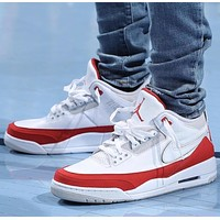 Nike Air Jordan 3 Retro Tinker White University Red Sneakers Shoes