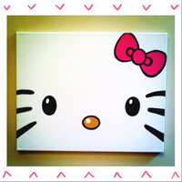 Hello Kitty Painted Canvas