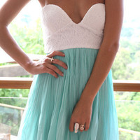 SABO SKIRT Mint Tea Dress - PRE-SALE [DELIVERY DATE: LATE FEB] - $68.00