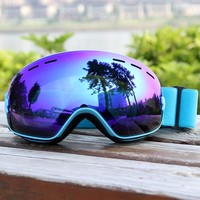 Ski Goggles Layers Lens Adult Anti-fog UV400 Ski Glasses Skiing Snowboard Men Women Snow Goggles