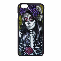 Floral Sugar Skull Day Of The Dead iPhone 6 Case