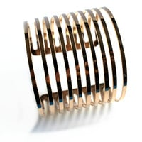 """Visual Appeal"" Gold Cuff Bracelet"
