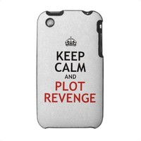 Keep Calm and Plot Revenge iPhone 3 Cases from Zazzle.com