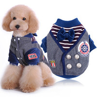 Pet Coat Fashion British Style Dog Clothes Pet Coat Puppy Cat Costumes Apparel for Large Dogs Medium Small XL 2XL