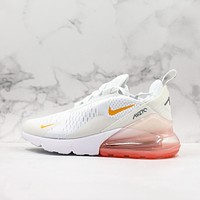 Nike Air Max 270 White Pink Running Shoes - Danny Online