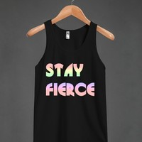 stay fierce tank top - glamfoxx.com - Skreened T-shirts, Organic Shirts, Hoodies, Kids Tees, Baby One-Pieces and Tote Bags