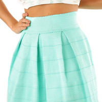 The Travel Time Skirt: Mint | Hope's