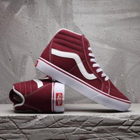 Vans Sk8-Hi Canvas Old Skool Flats Sneakers Sport Shoes