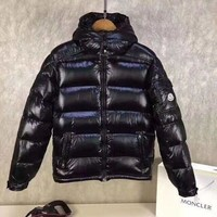 Moncler Men's Fashion Casual Cardigan Jacket Coat fashion down jacket black Moncler
