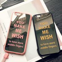 Mirror lovers mobile phone case for iphone 5 5s SE 6 6s 6plus 6s plus + Nice gift box!