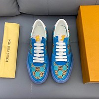 lv louis vuitton men fashion boots fashionable casual leather breathable sneakers running shoes 1201