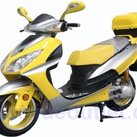 """PRO MCR-75-150 150cc Gas Scooter with BIG 13"""" Aluminum Rims, 85% assembled package (Free Rear Trunk)"""