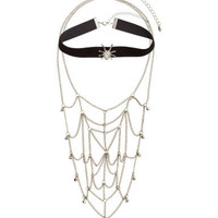 Queen of the Night Gothic Necklace SET