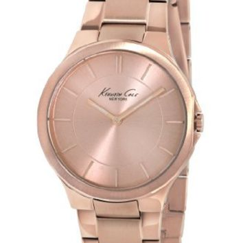 Kenneth Cole New York Women's KC4877 Slim Triple Rose Gold Round Watch