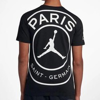 AIR JORDAN Paris Saint-Germain limited edition sports short-sleeved shorts vest