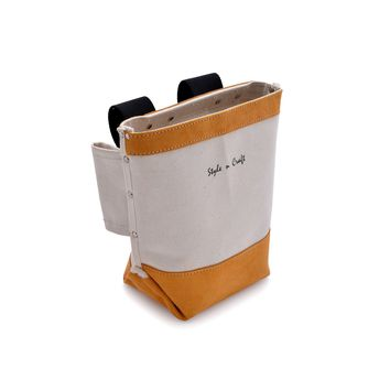 97515 - Bolt Bag in Canvas and Suede Leather Combination
