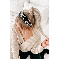 Put Together Star Knot Headband (Black)