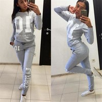 Autumn Winter Fashion 2 Piece Set Tracksuit For Women Pant And Sweatsuits 10 Printed Women's Suits Clothing