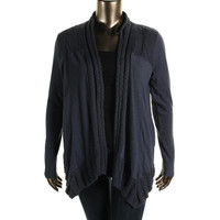 Lucky Brand Womens Knit Open Front Cardigan Sweater