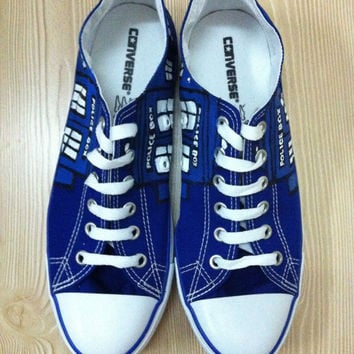 Doctor Who Custom Hand Painted Converse Shoes