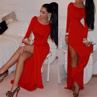 Fashion WOMEN'S Dress/Celebrity Inspired Evening Cocktail DresS Long Dress Bandage S/M/L/Xl/XXL = 1931393156