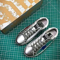 GGDB Golden Goose Uomo Donna Red Blue Star Fashion Silver Shoes - Sale