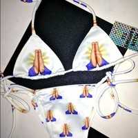 SWEET LORD O'MIGHTY! PRAYING HANDS BIKINI TOP