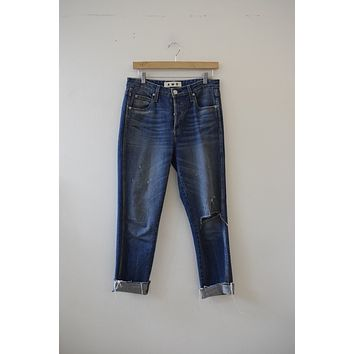 "AMO Denim ""Dive Bar Destroyed"" DIstressed Denim in Babe Wash"