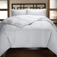 Multiple Sizes - Down Alternative Reversible Comforter White on White - Full/Queen - 95 GSM Microfiber Shell - Exclusively by BlowOut Bedding RN #142035