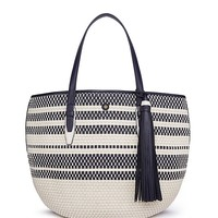 Tory Burch Woven Leather Tote