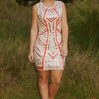 Moonlight On The Lake Dress: Multi