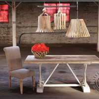Numéro 1 Wood Dining Table with Distressed Base