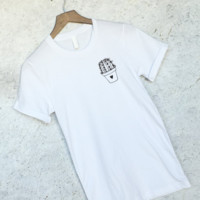 Cactus Plant Pocket Tee in White