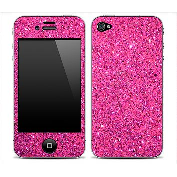 Pink Glitter Ultra Metallic Skin for the iPhone 3gs, 4/4s or 5