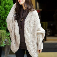 'The Aurora' V-Neck Batwing Sleeve Knitted Cardigan