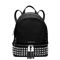 Rhea Extra-Small Studded Leather Backpack | Michael Kors