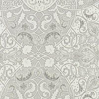 Beacon Hill Fabric 234236 Vintage Vines Silver