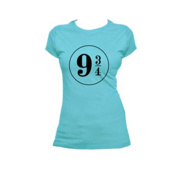 9 3/4 Kings Cross Station Ladies or Mens T Shirt, Harry Potter, Nerd Girl Tees