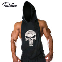 New Mens Sleeveless Hoodie T-Shirt Hooded Tank Top Cotton Hoodies Tee Shirt Vest Men Sweatshirts Gym Fitness Gasp Sport Stringer