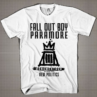 Fall Out Boy Paramore  Mens and Women T-Shirt Available Color Black And White