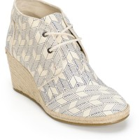 Toms Shashiko Canvas Desert Wedge Shoes