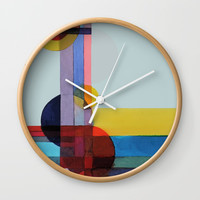 expo 68 (turquoise) Wall Clock by sylviedemes